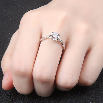 18k White Gold Platinum  Gold Diamond Engagement Ring  4