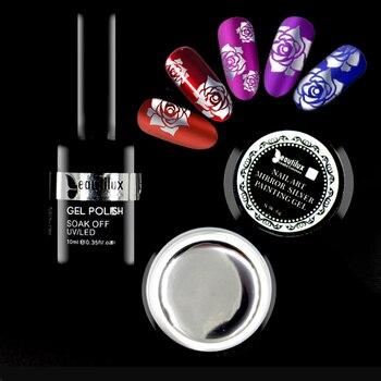 Beautilux espejo plata Gel polaco UV LED metálico titanio Uña de cromo arte diseño pintura Gel barniz laca suministros para manicura