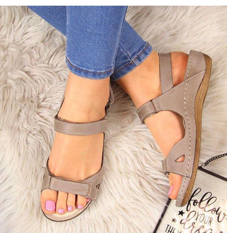 2020 Women Sandals Flat Open Toe Shoes Women Casual Platform Ladies Vintage Office Party Sandals Dropshipping Zapatos De Mujer