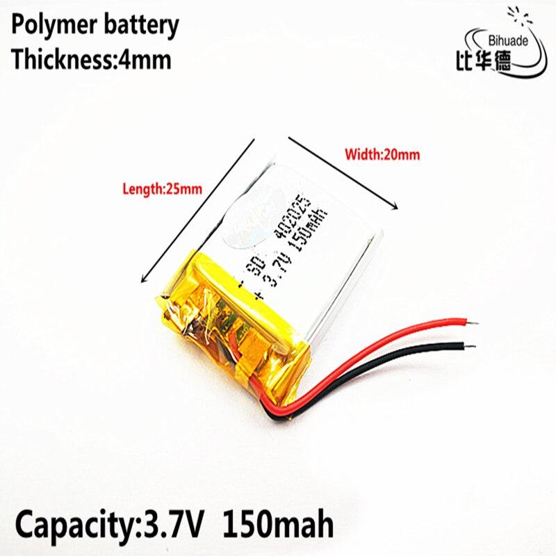 3,7 V 402025 150mAh полимерный литий-ионный аккумулятор для ployer P319 aigo E5808 MP3 sony Ericsson MW1 беспроводной Bluetooth
