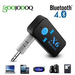 Bluetooth адаптер 3 в 1 Беспроводной 4,0 USB Bluetooth приемник 3,5 мм аудио разъем TF кардридер микрофон Поддержка звонков для автомобиля динамик