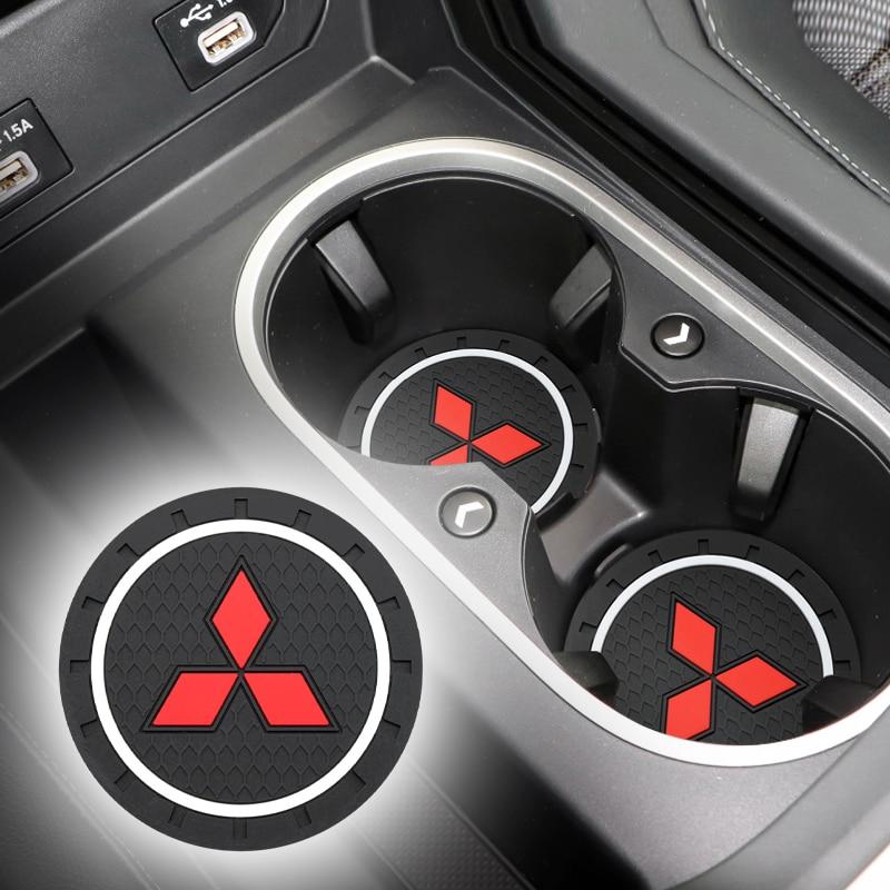 Car-Styling PVC Car Non-slip Coaster Mat Case For Mitsubishi Lancer Asx Outlander Pajero L200 Galant Car Accessories
