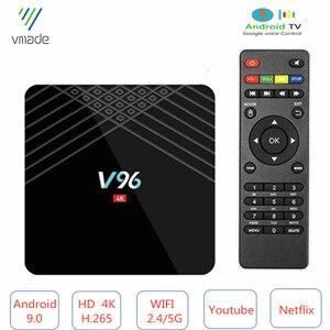 Image 1 - Оригинальная мини ТВ приставка Allwinner H6 четырехъядерный процессор Smart 4K UHD 2 ГБ 16 ГБ Android 9,0 OS Восьмиядерный WIFI IPTV медиаплеер телеприставка