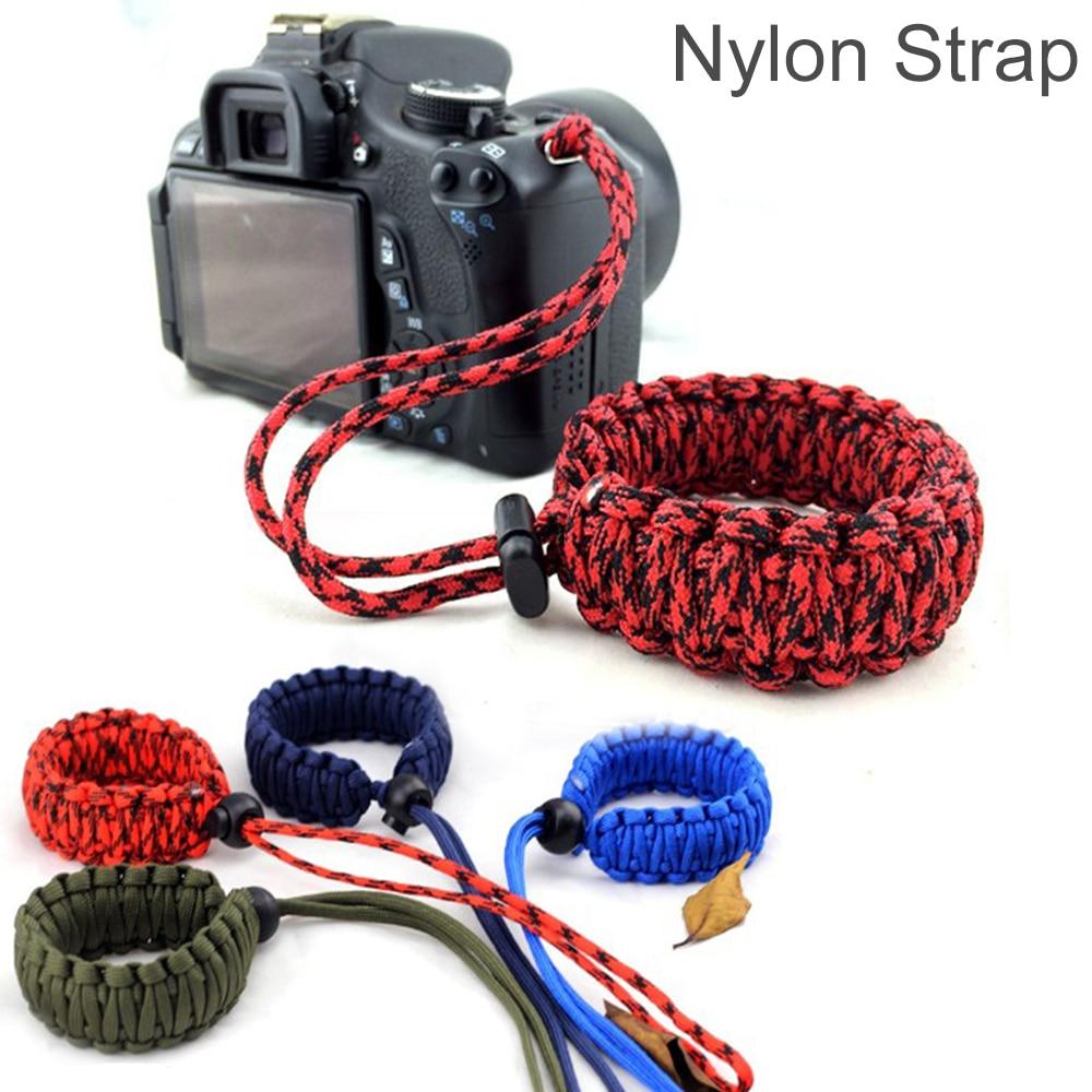 Модный ремешок для цифровой камеры, ремешок на запястье, ручная ручка, Паракорд, плетеный браслет для Nikon Canon Sony Pentax Panasonic DSLR