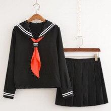 DM  Sailor Uniform Suit Cosplay Costume Dress Long Sleeve Anime Jigoku Shojo Hell Girl Enma Ai Cosplay Japanese High School Girl printio ai enma hell girl