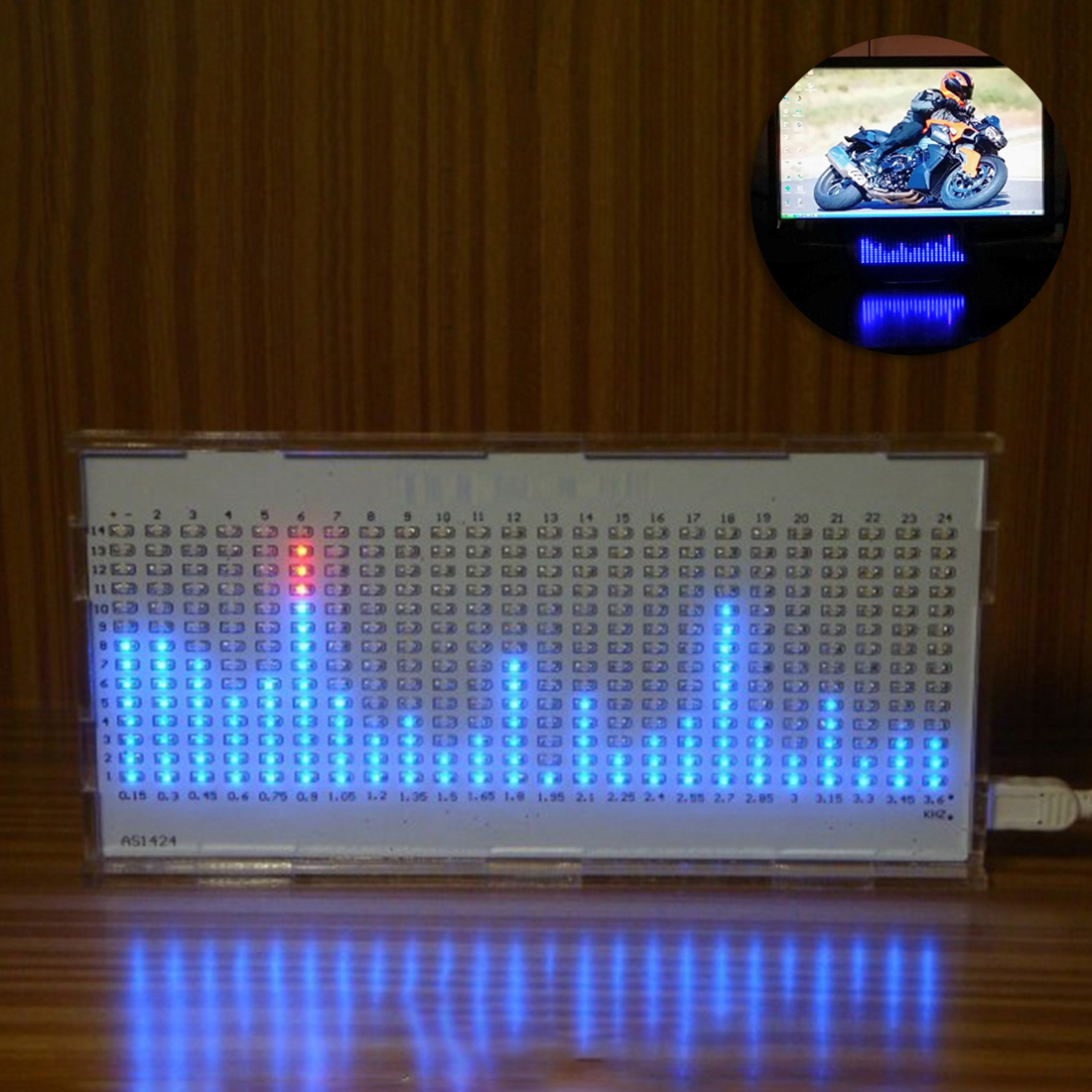 DIY Light Cube Programmable Kit AS1424 Music Spectrum LED Display for Audio Amplifier Modification Rhythm Lamp High Tech Toys