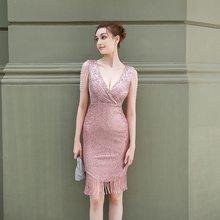 Alibride Вечерние платья Короткие Роскошные блестящие кружевные