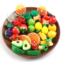 5pcs/lot Acrylic Apple Strawberry Grape Fruit Resin Charms Pendant Earring DIY Fashion Jewelry Accessories For Jewelry Making