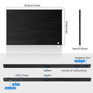Image 5 - Eyoyo EM15K HDMI USB نوع C شاشة محمولة 1920x1080 FHD HDR IPS 15.6 بوصة شاشة LED مراقب لأجهزة الكمبيوتر PS4 Xbox الهاتف المحمول