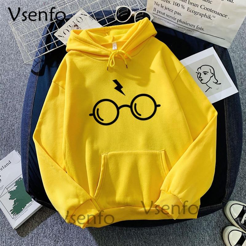 Harajuku Women's Hoodies Hary Style Glasses Print Sweatshirt Pullover Streetwear Moleton Feminino Vintage Clothes Drop 7