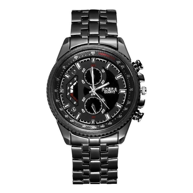 Men Sports Watches Top Luxury Brand ROSRA Men Watches Black Watches Fashion Military Wristwatch Classic Watches For Men Seiko 5