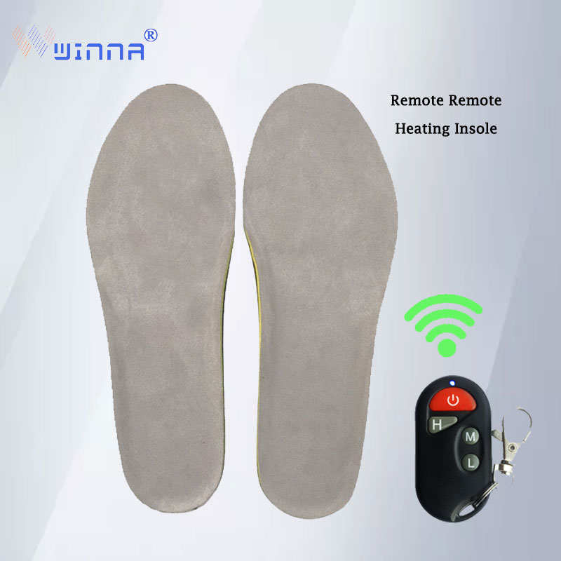 1800Mah Heating Insoles With Wireless Remote Winter Spring Plush Women Men Warm Electric Insoles EUR Size