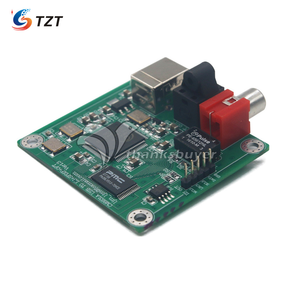 TZT CM6631A 24bit/192khz USB To Coaxial And Optical Fiber SPDIF And I2S By LJM New Version