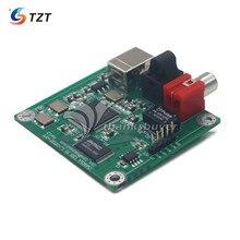 TZT CM6631A 24bit/192khz USB vers Coaxial et fibre optique SPDIF et I2S par LJM nouvelle version