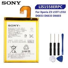 オリジナル交換ソニーソニーのxperia Z3 L55T L55U D6653 D6633 D6603 LIS1558ERPC本物の携帯電話のバッテリー3100mah