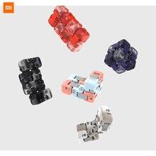 최신 원본 Xiaomi Mitu 큐브 회 전자 손가락 벽돌 지능 완구 스마트 손가락 완구 스마트 홈을위한 휴대용 5 색