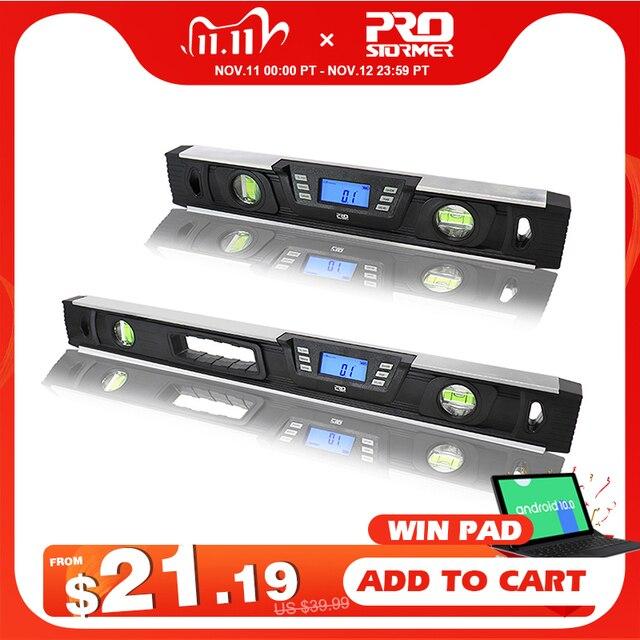 الإلكترونية الرقمية مستوى الميل المنقلة زاوية مكتشف 40 سنتيمتر/60 سنتيمتر شاشة LCD مغناطيس Nivel المستوى الرقمي بواسطة PROSTORMER