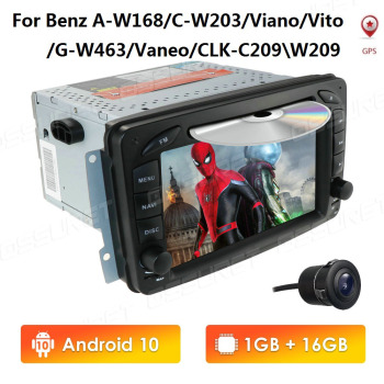 7 Inch Android 10 2 Din IPS 16GB Car DVD Player GPS Navigation ForMercedes Benz CLK W209 W203 W208 W463 support DVR OBD2 TPMS image