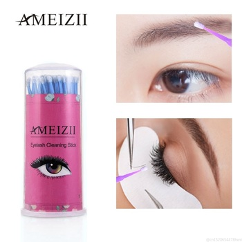 100Pcs Disposable Colorful Cotton Swabs Micro Brush Eyelash Cleaning Stick Makeup Cosmetic Swabs Applicator Brushes Dental Tool