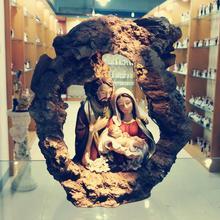 Рождественский подарок, статуэтка святого Иисуса Мэри Джозеф, религиозная статуэтка, украшение для дома, Рождественская сцена, набор Zayton