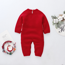 0-24M Newborn Baby Rompers Christmas Costumes Long Sleeve Red Santa Claus Jumpsuit