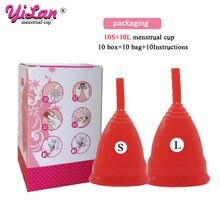 20 шт силиконовые многоразовые женские менструальные чаши в