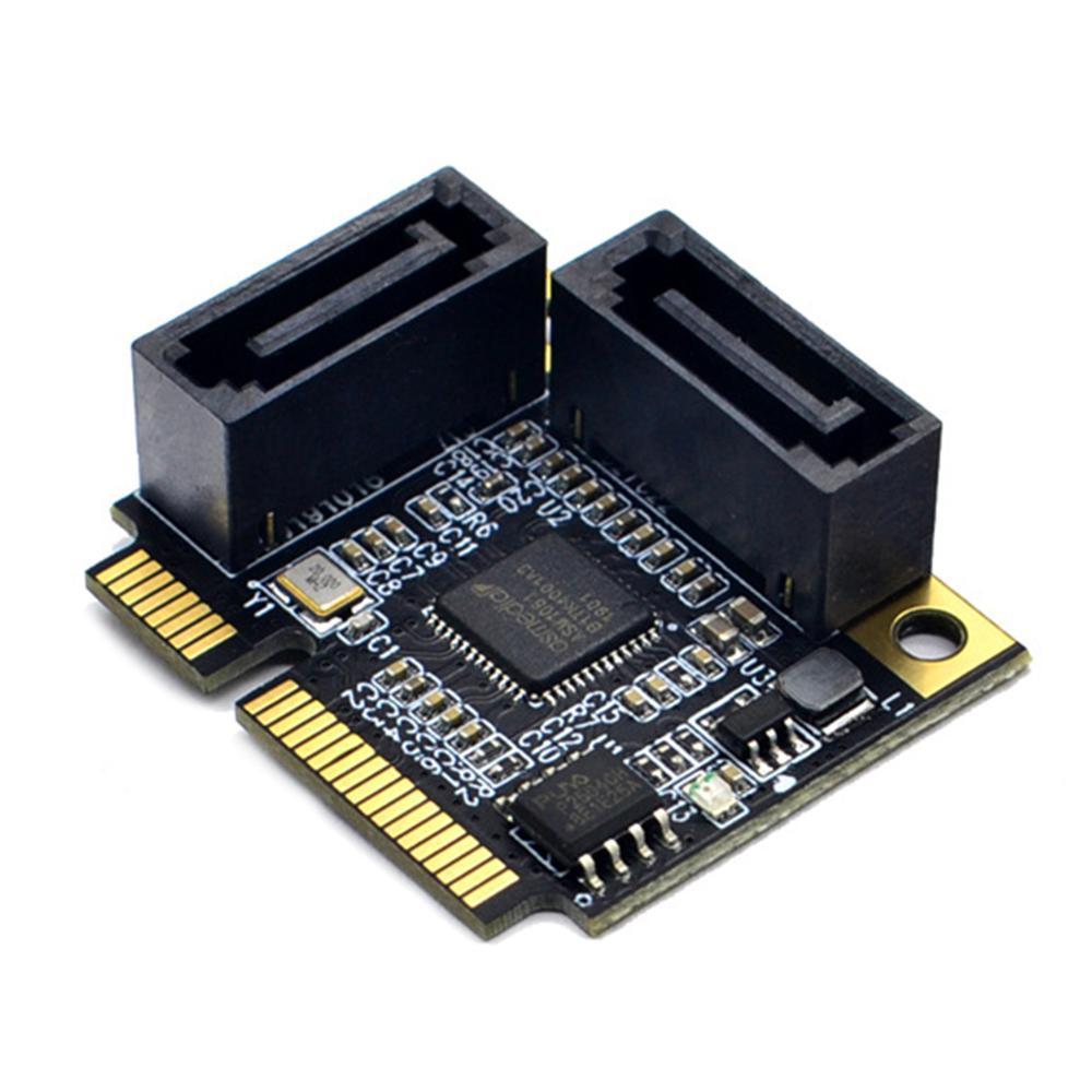 2 Порты Mini PCI-E PCI Express SATA 3,0 адаптер конвертер жесткого приводной удлинитель расширительные платы для Windows, Mac Linux OS