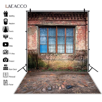 Laeacco-Fondo de foto escénica Casa de desierto antigua, camino de piedra, porche de jardín, fondo fotográfico, estudio fotográfico, Photocall