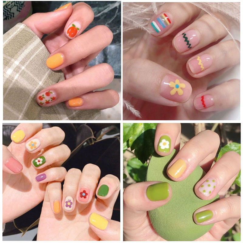 Customizable-Korean-style Christmas Bronze Nail Ornament Lettered Patch Cute Waterproof Long-lasting Nail Sticker Stick Complete