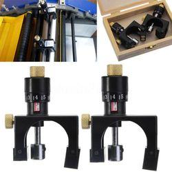 2X regulowane ostrze strugarki kalibrator ustawienie Jig Gauge narzędzie do drewna w Elektryczne trymery od Narzędzia na