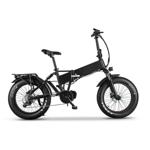 Электрический фэтбайк, 20-дюймовый Снежный велосипед, складной Ebike, 20