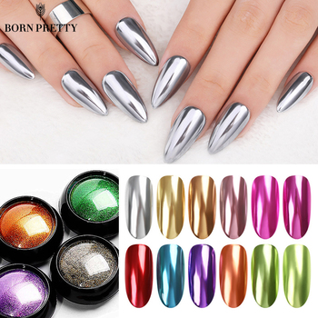 BORN PRETTY Mirror Nail Art Glitter Powder Shining Rose Gold Metal Nail Chrome Pigment Dust For Gel Polish Nail Art Decoration shinning glitter mirror powder tip diy nail art magic glimmer metal silver decoration