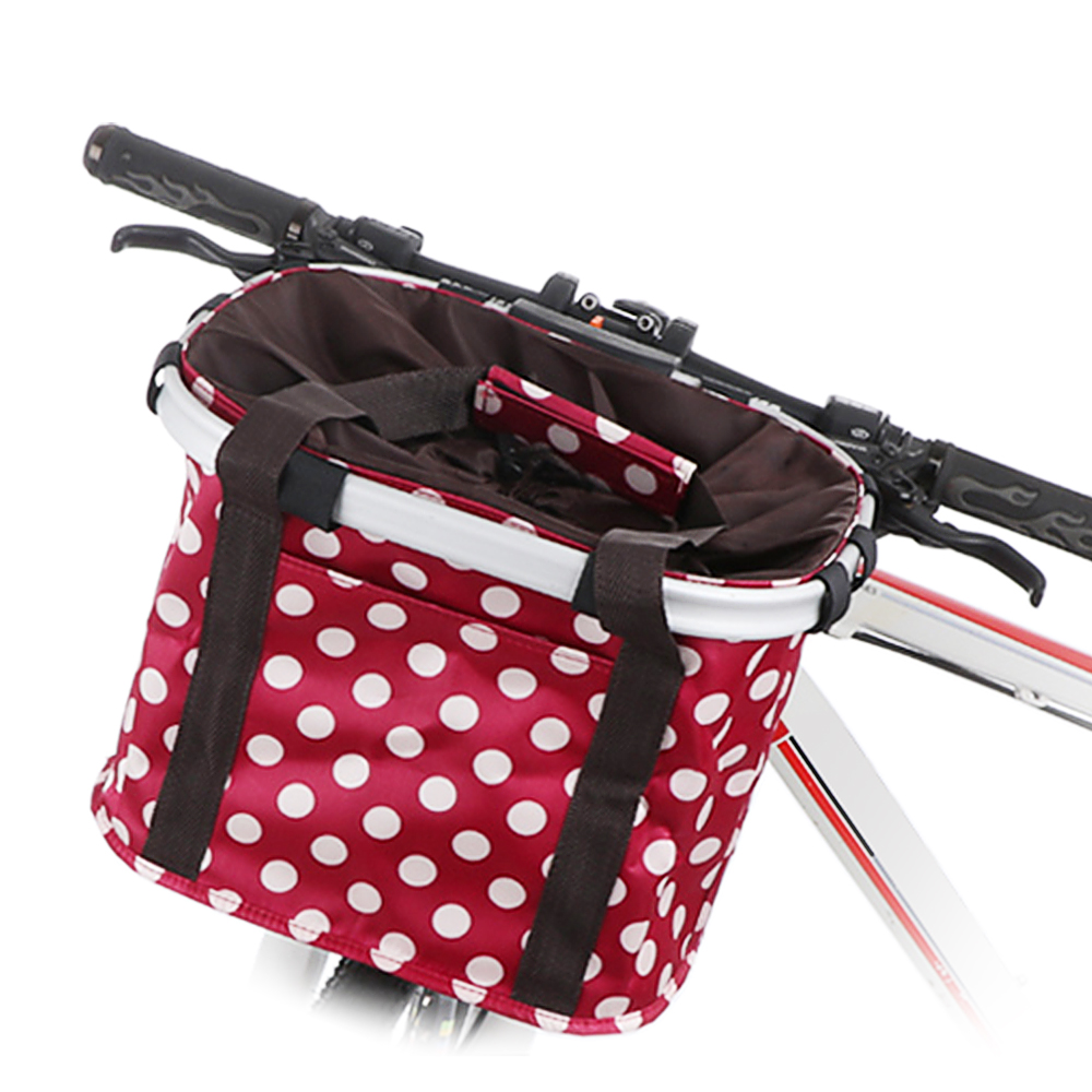 Durable Bike Basket Front Bicycle Cycle Folded Shopping Holder Carrier Bags US