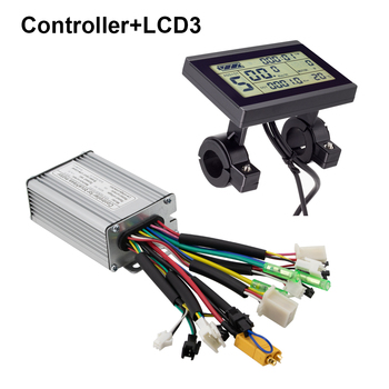 36v 48 250w 350w 500w 750w 1000w 1500w electric bike conversion kit controller with lcd5 lcd3 and color display lcd8s Electric Bike Controller 24V 36V 250W 350W Brushless 6 Mosfet 17A Kunteng Controller with KT LCD4 LCD5 Display Ebike Controller