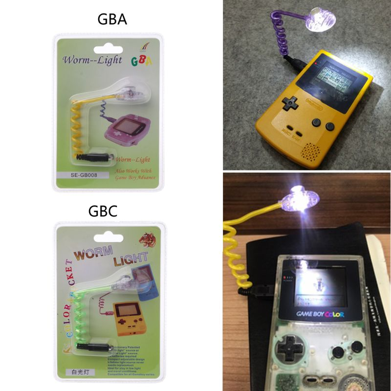 New Flexible  For GBA GBC  Worm Light  For Nintendo GB Boy LED Game Console Light For Game Boy Wormlight Lamp