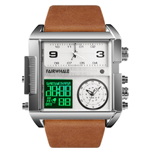 Luxury Men Watch LED quartz Creative Sport Watches Male Multifunctional Waterproof Luminous Wristwatch Clock Relogio Masculino