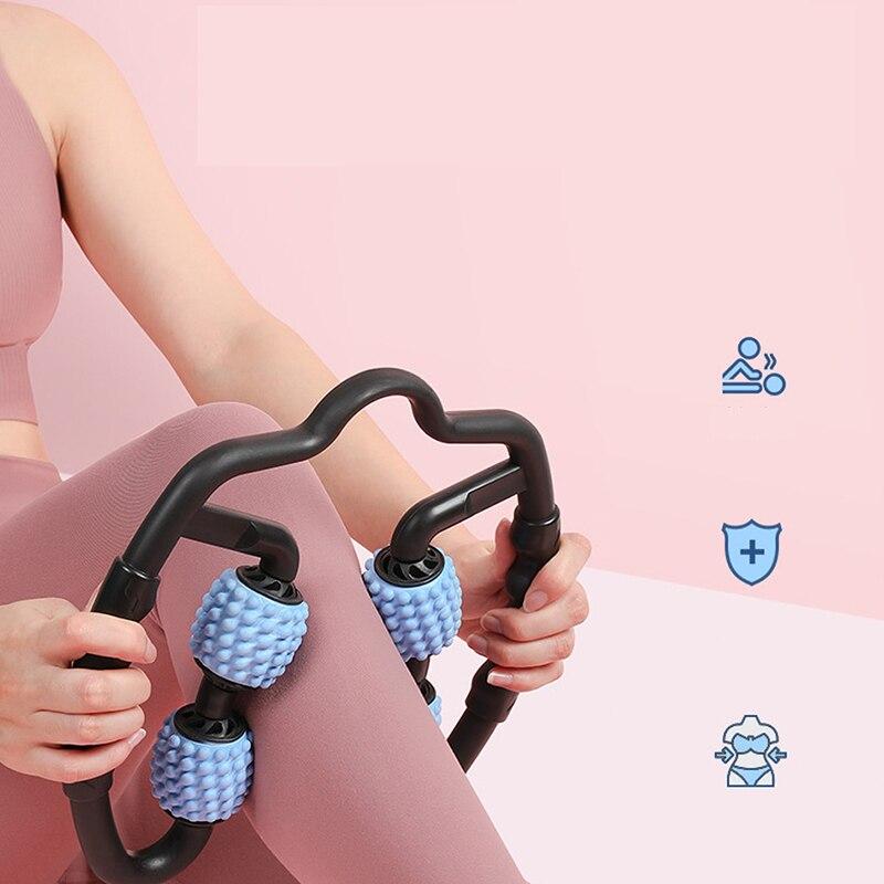 Купить массажный ролик u образной формы с 4 колесами для мышц рук ног