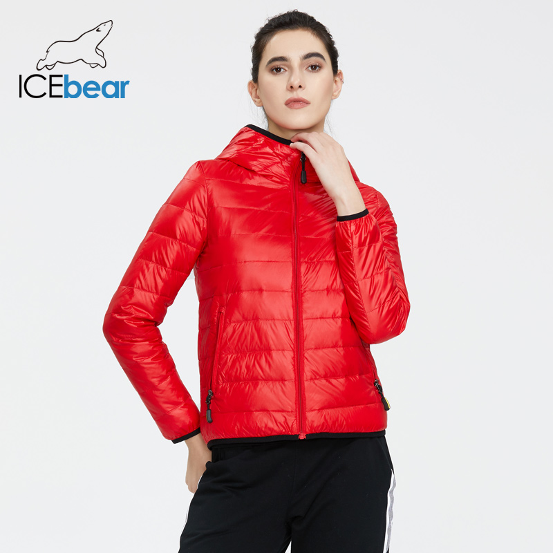 ICEbear 2020 New Women Lightweight Down Jacket Stylish Casual Spring Jacket Brand Clothing GWY19151D