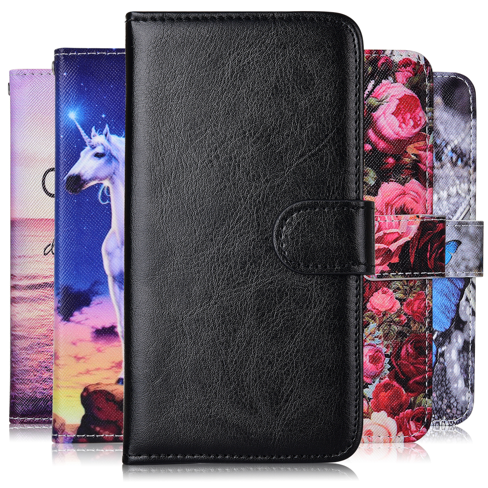 Coque For On Huawei 6A Wallet Leather Flip Case For Huawei Honor 6A DLI-TL20 DLI-AL10 Capa Honor 6A Cartoon Plain Phone Cover