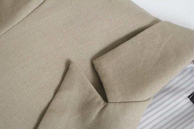 Toppies Summer Thin Linen Blazer Jacket Woman Leisure Suit Jacket Open Stitch Loose Jacket 4