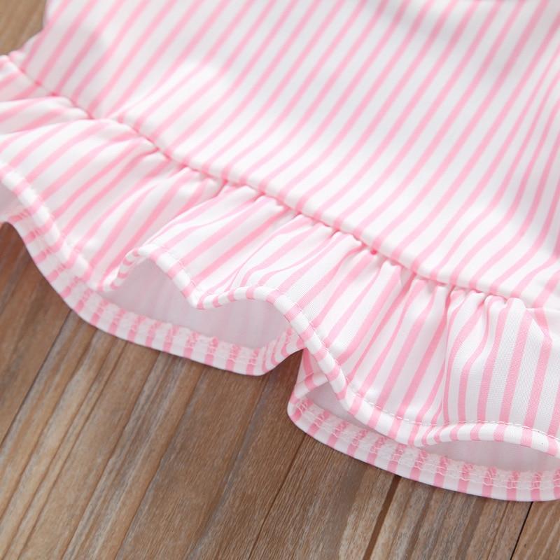 20 Yuan Sale! Baby Stripes Swimsuit Medium-small Girls Summer Tour Bathing Suit