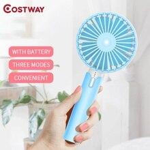 COSTWAY Portable Hand Fan Usb Rechargeable Handheld Mini Ventilator Ventilation ventilateur ventilador portatil wentylator