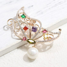 Vintage inseto broche para feminino branco cinza pérola borboleta pino jóias roupas cachecol fivela acessórios para vestuário broches presente