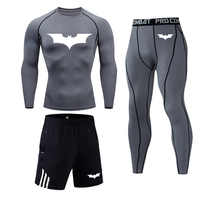 Running suit Batman Thermal Mens Underwear Fitness Tights Men's Compression Elasticity Quick Dry Breath Men's Thermal Underwear