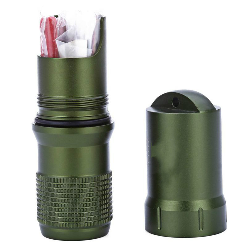 Survival Waterproof Pill / Match Case Box Container Survive Seal Trunk Container Holder Storage Capsule  Waterproof Hike Box