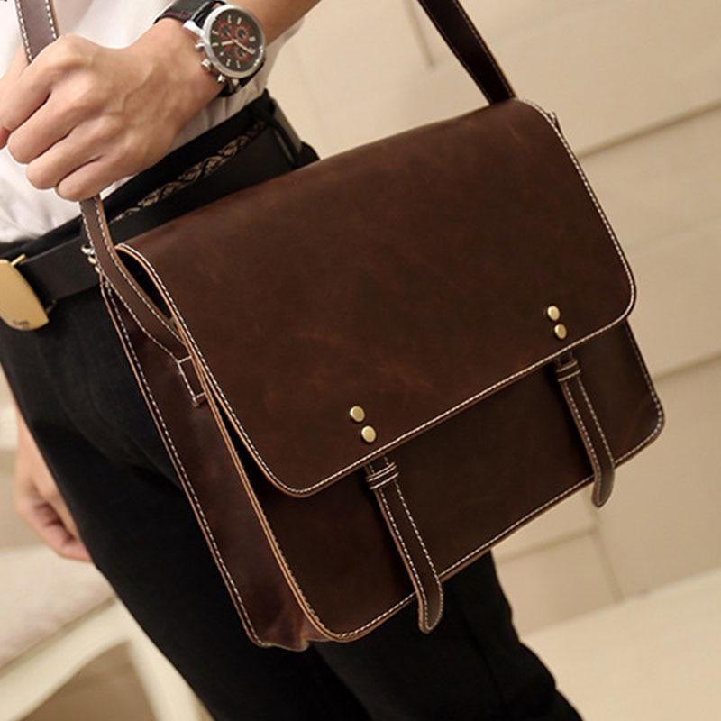 2020 New Leather Men Bag Leisure Men's Business Messenger Bags Portable Briefcase Leather Bag Laptop 13 Inch Handbags