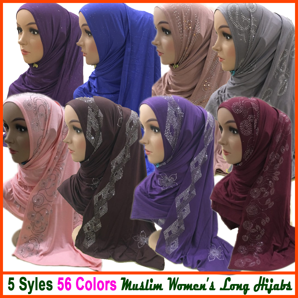 Muslim Islamic Jersey Instant Hijabs Shawl Headscarf Prayer Amira Head Wrap Neck Cover Caps Islam Clothing For Women Scarf Hats