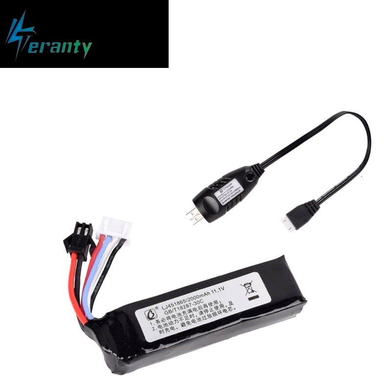 11.1v <font><b>2000mah</b></font> 30C 451865 <font><b>Lipo</b></font> Battery SM-2P Plug Electric water gun rc helicopter <font><b>3S</b></font> High power lithium polymer with usb charger image