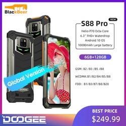 IP68/IP69K DOOGEE S88 Pro прочный мобильный телефон 6,3 дюймов 10000mAh смартфон Helio P70 Octa Core Телефон 6 ГБ + 128 ГБ Android 10,0