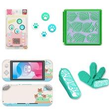Animal Crossing uchwyt na kciuki Paw pokrywa dla Nintendo Switch NS folia ochronna na ekran Lite naklejka skóra karty do gry Box Case